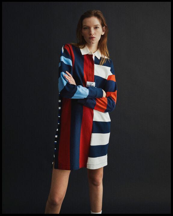Remake Striped Rugger Dress