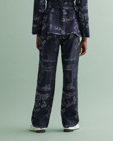Bandana Hose mit weitem Bein und Print