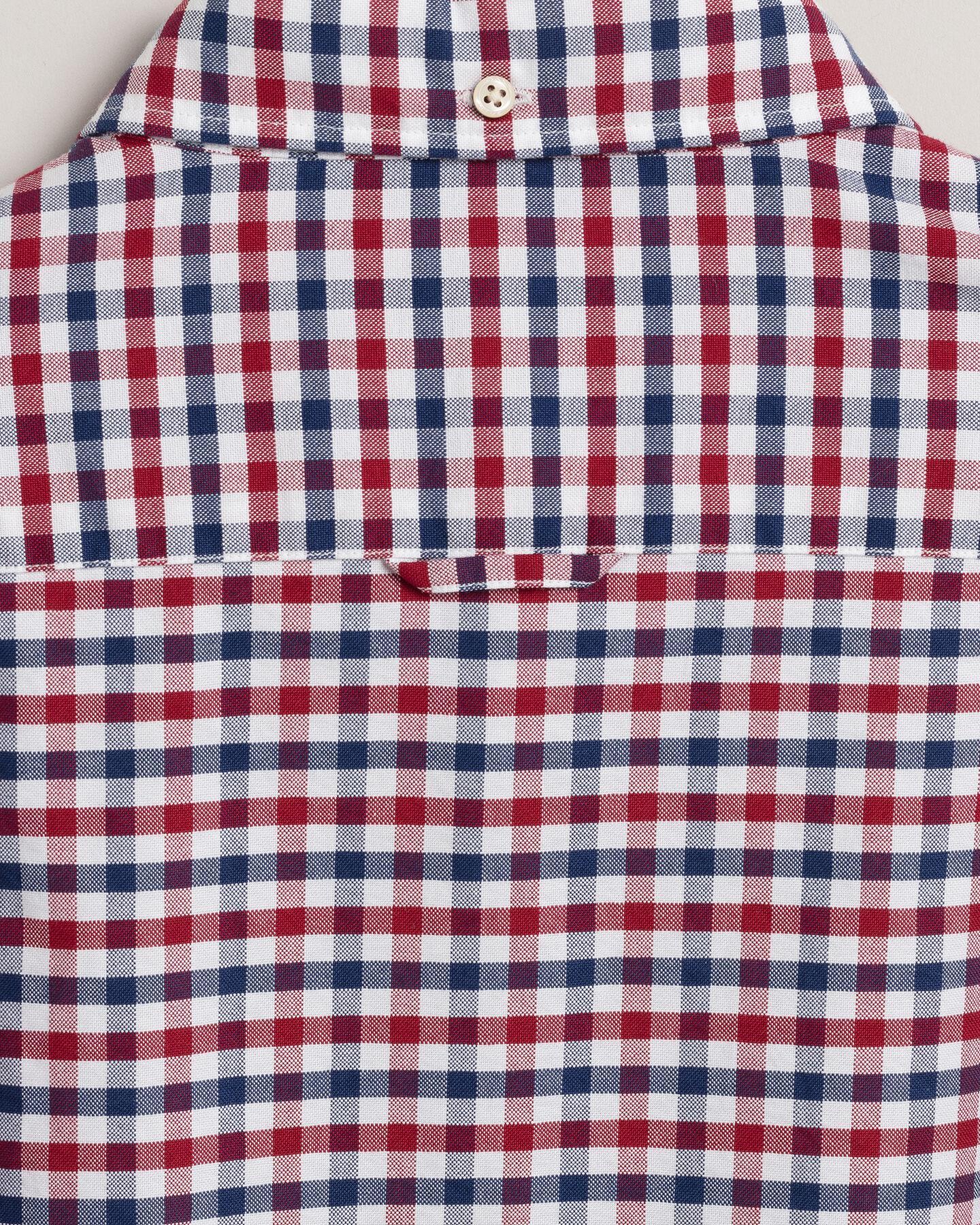Slim Fit Oxford-Hemd mit Vichy-Karo in 2 Farben