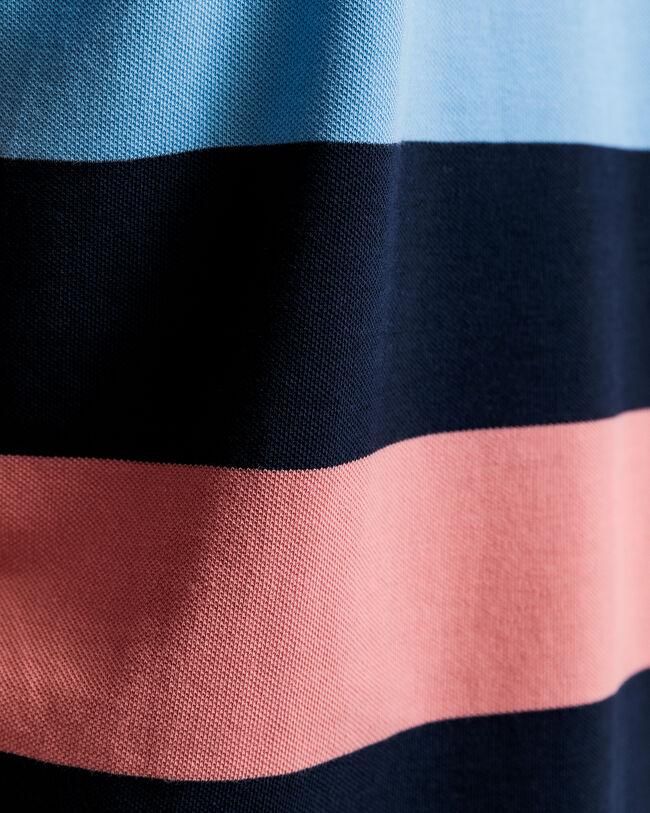 Piqué Rugger Poloshirt mit Blockstreifen