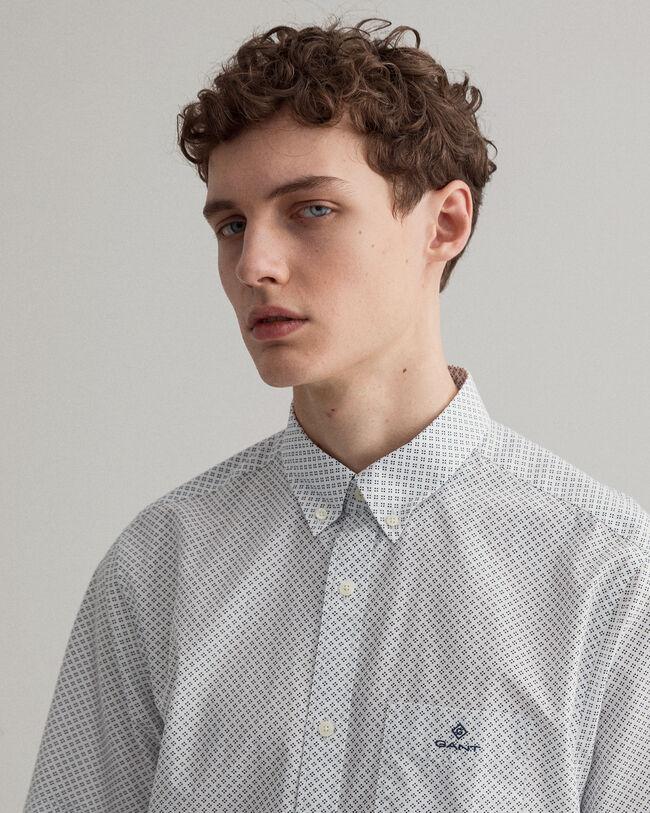 Regular Fit Kurzarm Hemd mit Pünktchen-Print