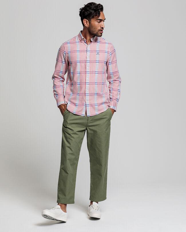 Engineered Patchwork Regular Fit Hemd