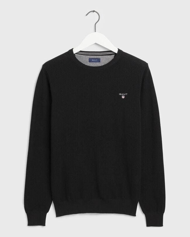 Piqué Crew Sweater