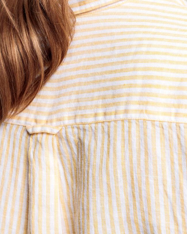 Leinen Chambray Bluse mit Streifen