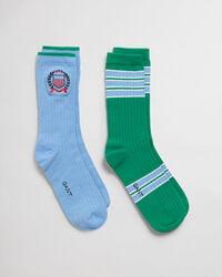 2er-Pack Crest Socken mit Geschenkbox