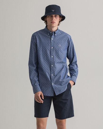 Regular Fit Jacquard Hemd mit Punktmuster