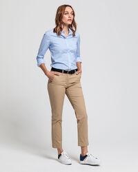 Stretch Broadcloth Bluse mit Mini-Blumenprint