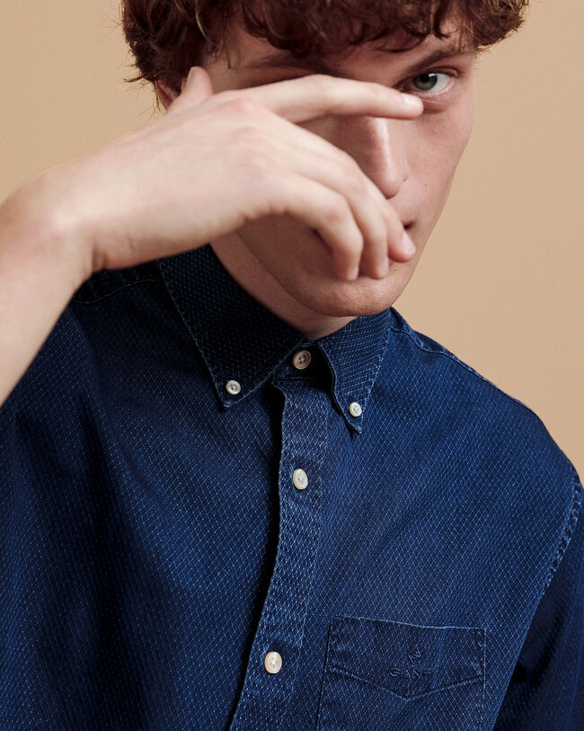 Diamond Regular Fit Dobby Hemd