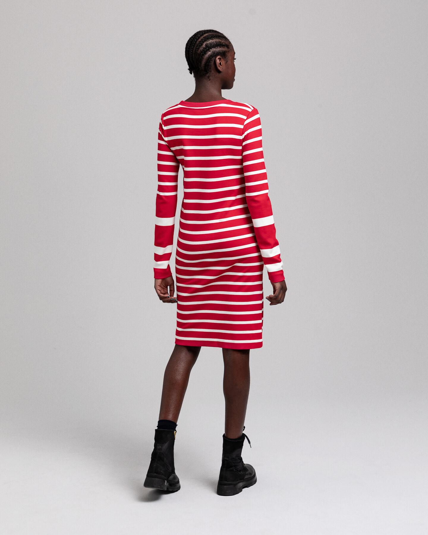 Detail Jerseykleid mit Streifen