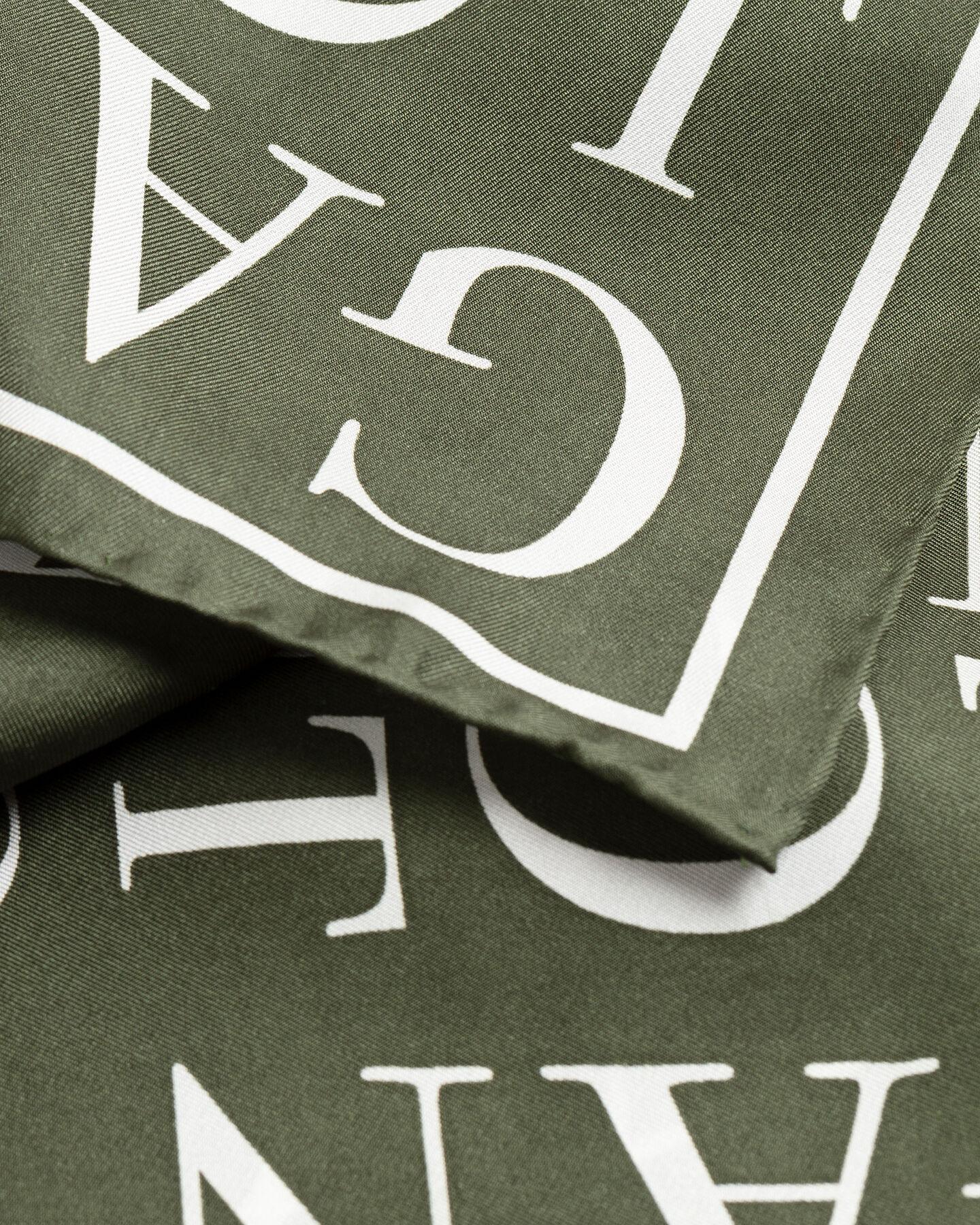 Typography Seidenschal mit Print