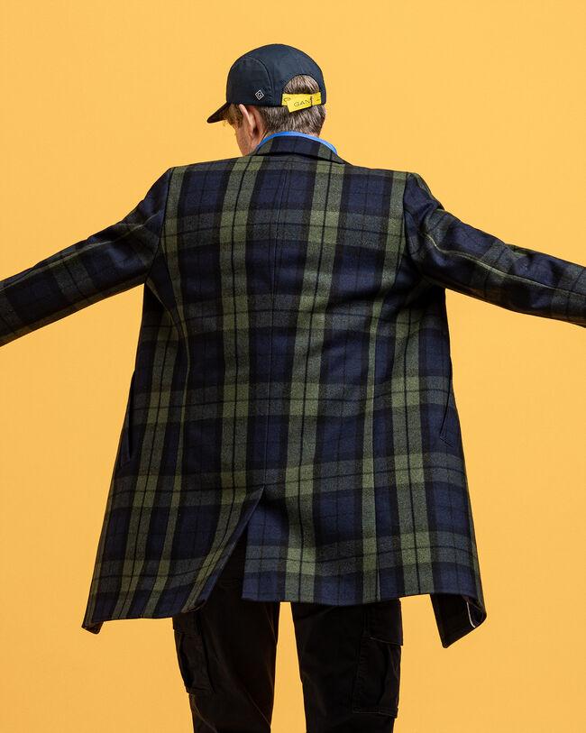 Karierter Mantel