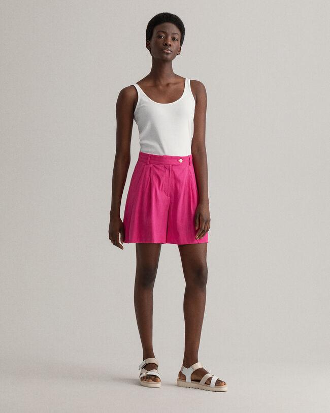 Stretch Leinen Shorts