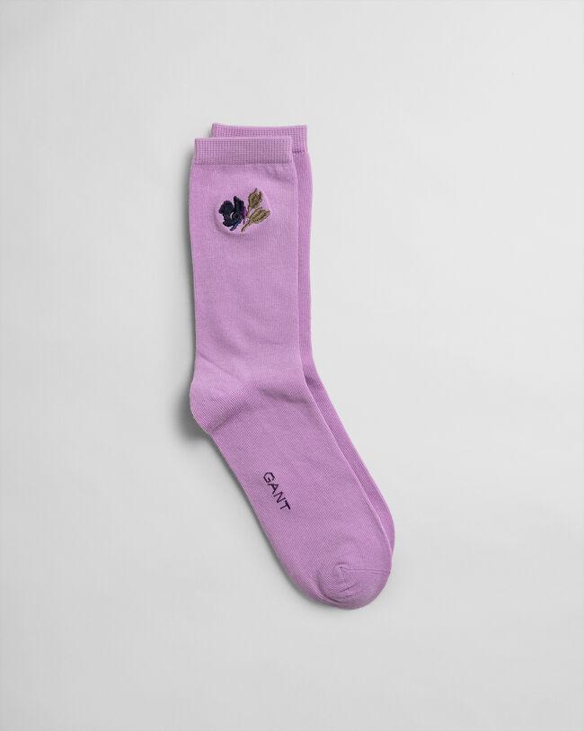 Socken mit Stickerei am Knöchel