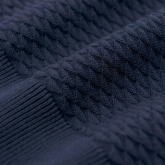 Texture Rundhalspullover mit Dreiecksstruktur