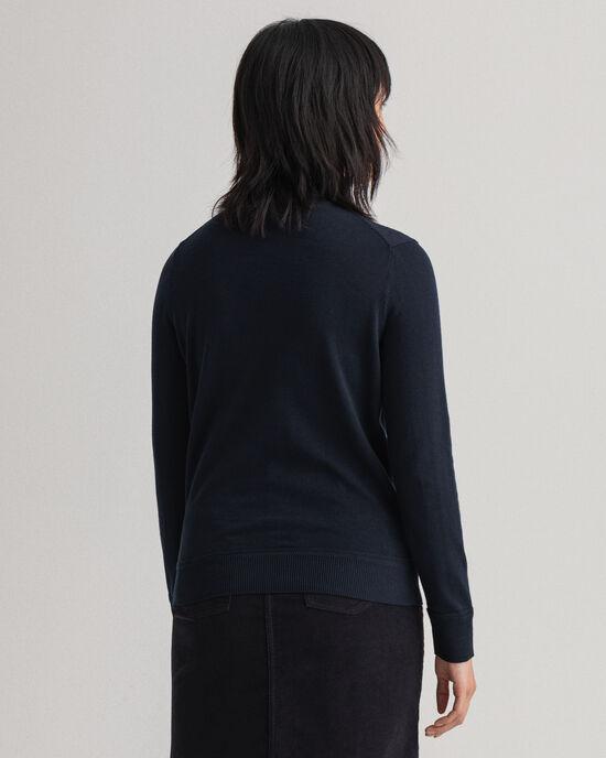 Leichter Rollkragenpullover aus Baumwolle
