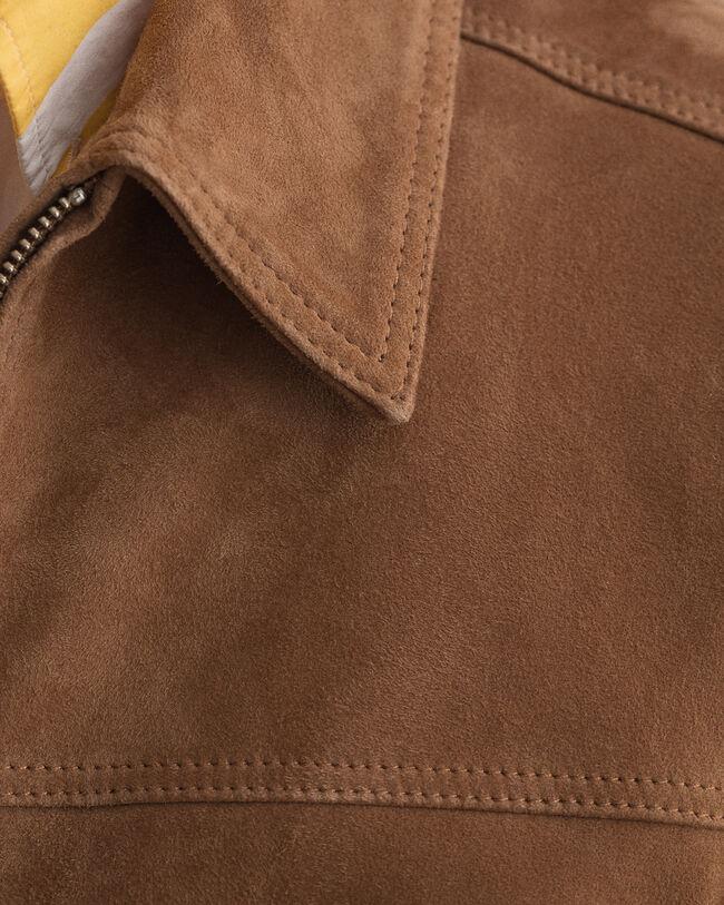 Jacke aus Veloursleder
