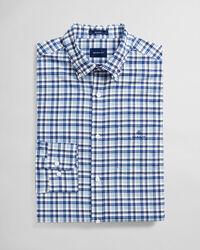 Regular Fit Micro Madras Oxford-Hemd