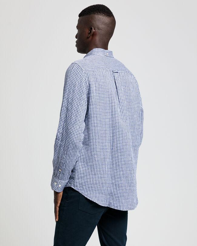 Regular Fit Leinen Hemd mit Karomuster