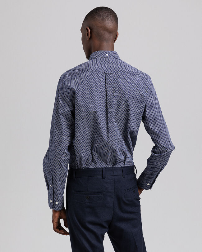 Regular Fit Hemd mit Pünktchen-Weave-Print