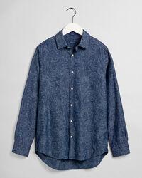 Regular Fit Jacquard Hemd mit Paisley-Muster