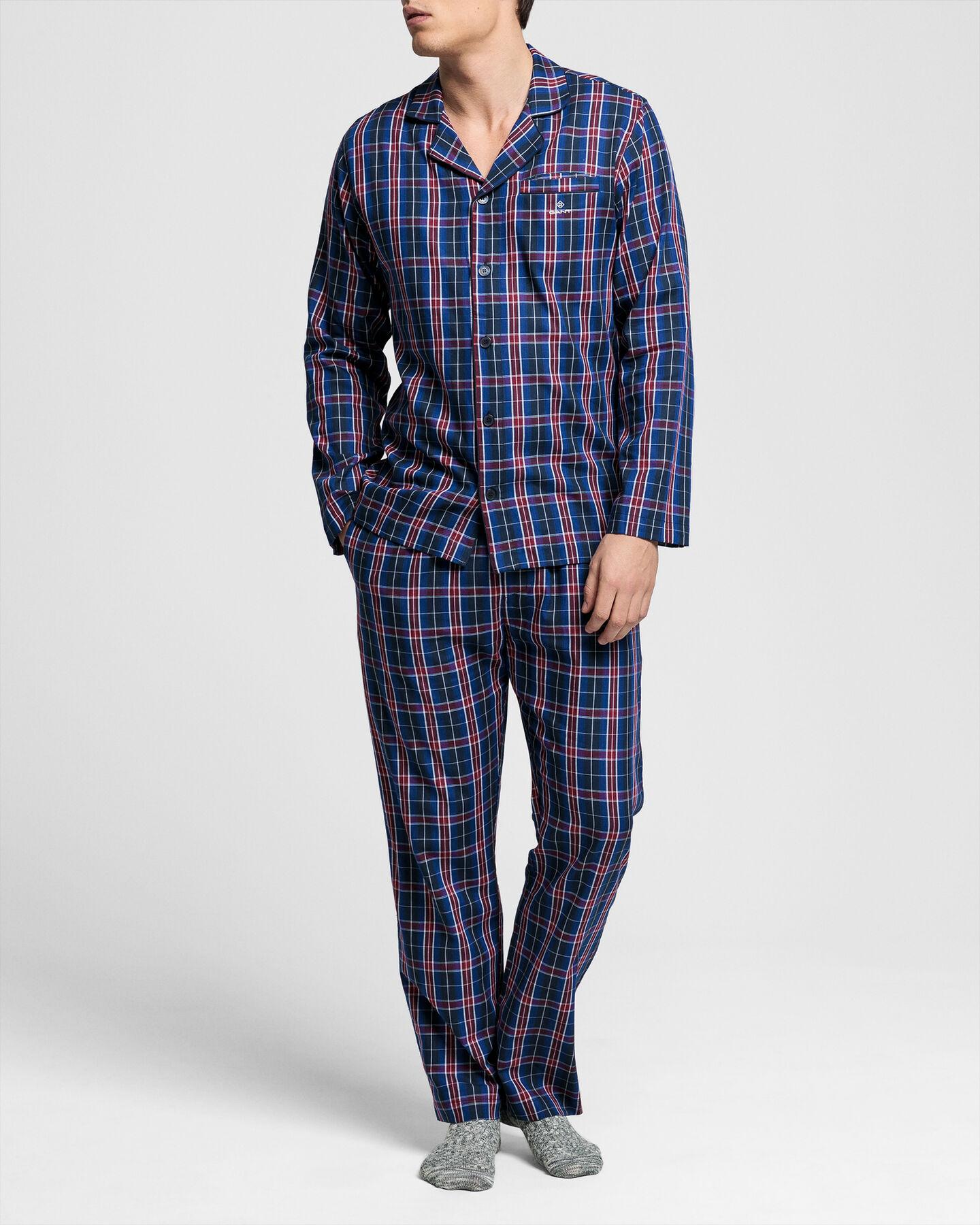 Pyjama mit Tartan-Muster