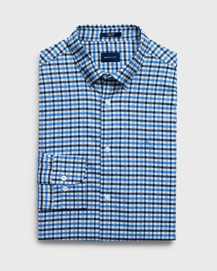 Regular Tech Prep™ Jaspé Gingham Oxford Hemd