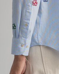 Relaxed Fit Crest Oxford-Hemd mit Stickerei