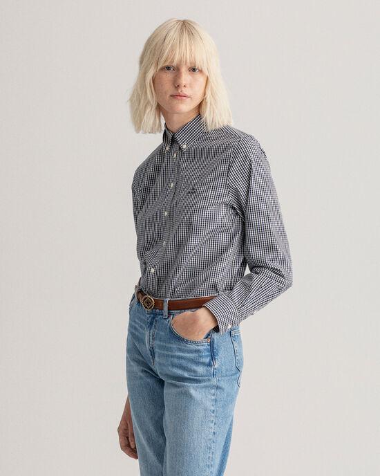 3-farbige Bluse mit Vichy-Karo