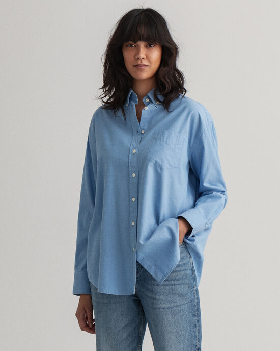 Regular Fit Oxford-Bluse