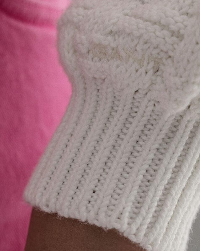 Signature Weave Textured Rundhalspullover