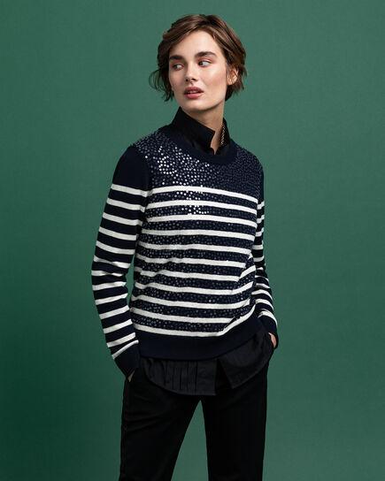 Pailletten Pullover