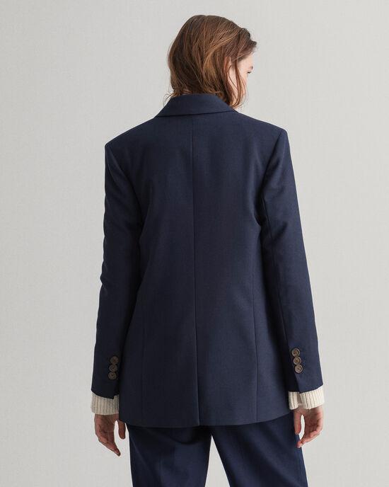 Oversize Blazer aus Wollmischung