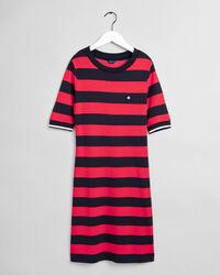 Jerseykleid mit Blockstreifen