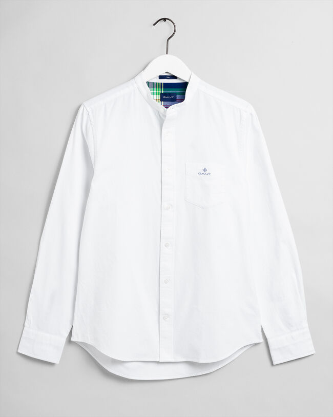 Gebürstetes Slim Fit Oxford-Hemd