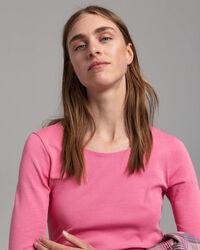 Geripptes Langarm-T-Shirt