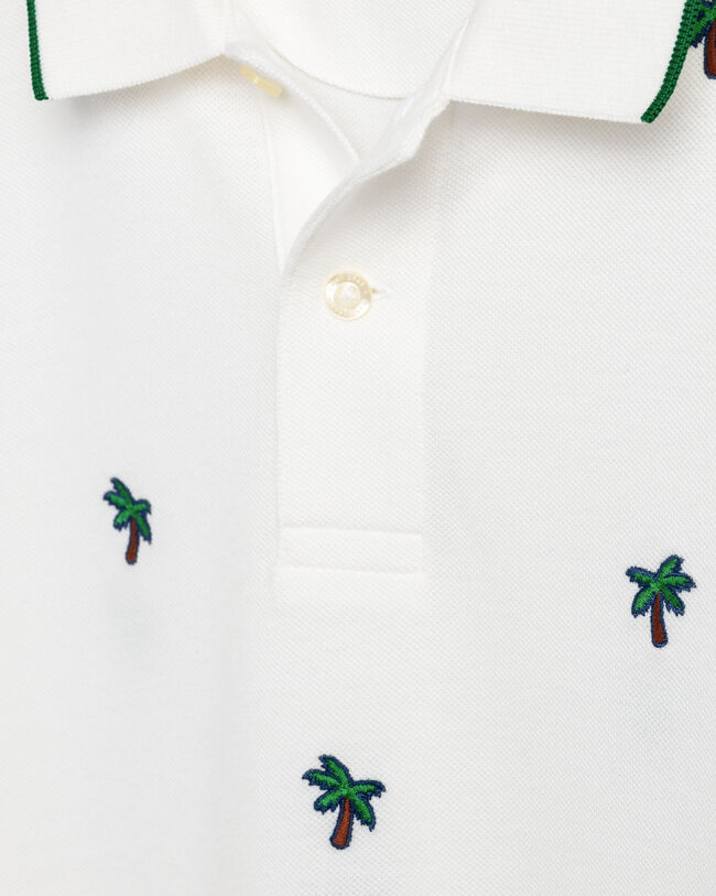 Palm Tree Piqué Poloshirt