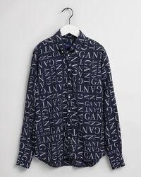 Typography Regular Fit Bluse mit Print