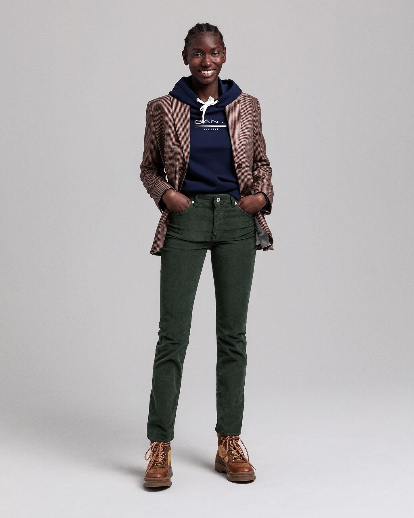 Slim Fit Cord Jeans