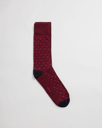 Kontrast Socken mit Punkten