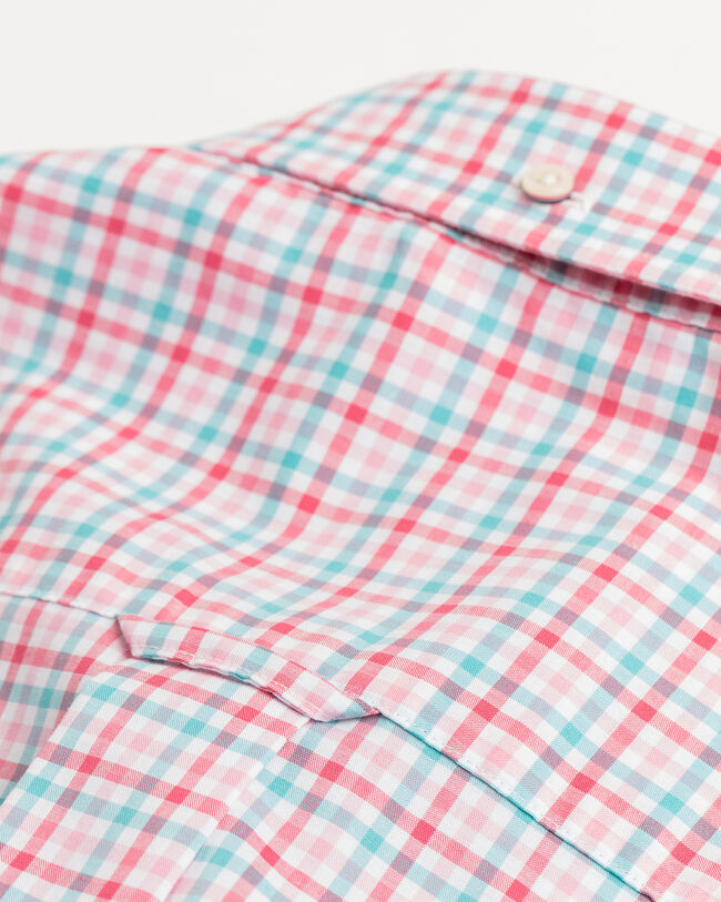 Regular Fit Broadcloth Hemd mit Vichy-Karo in 3 Farben