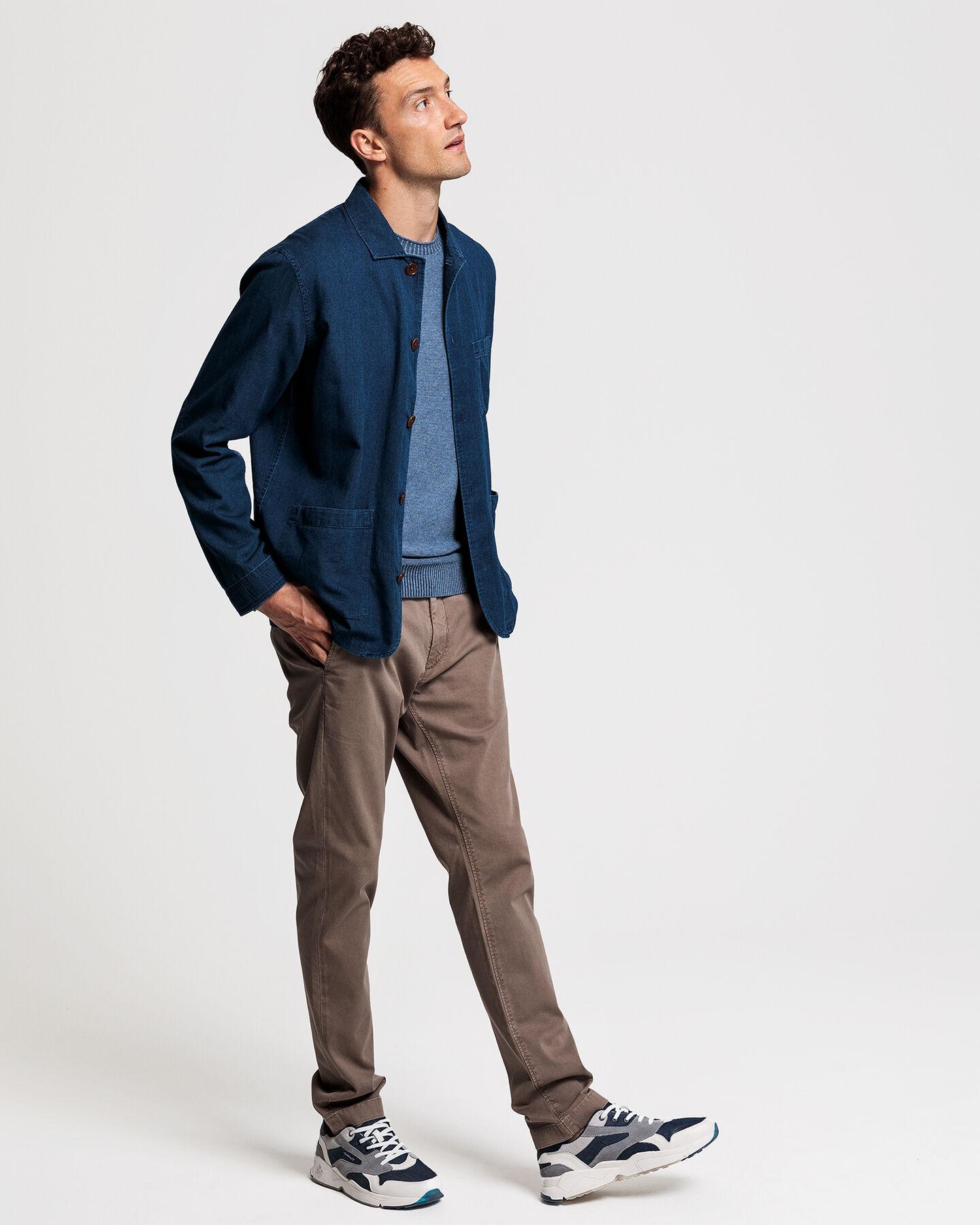 Indigoblaue Royal Oxford-Hemdjacke