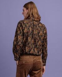 Regular Fit Baby Cord Hemd im Paisley-Print