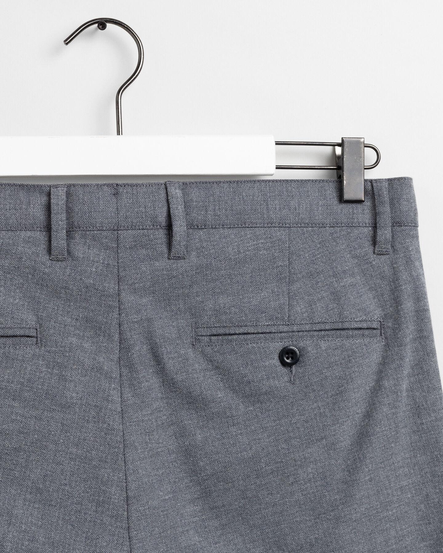 Extra Slim Fit Hose mit Fischgrätmuster
