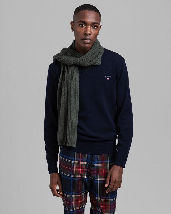 V-Neck Pullover aus Super Fine Lambswool