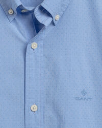 Regular Fit Hemd mit Punktstruktur