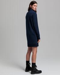 Sweatkleid mit halblangem Reißverschluss
