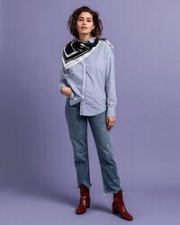 Tech Prep™ Oversized Broadcloth Bluse