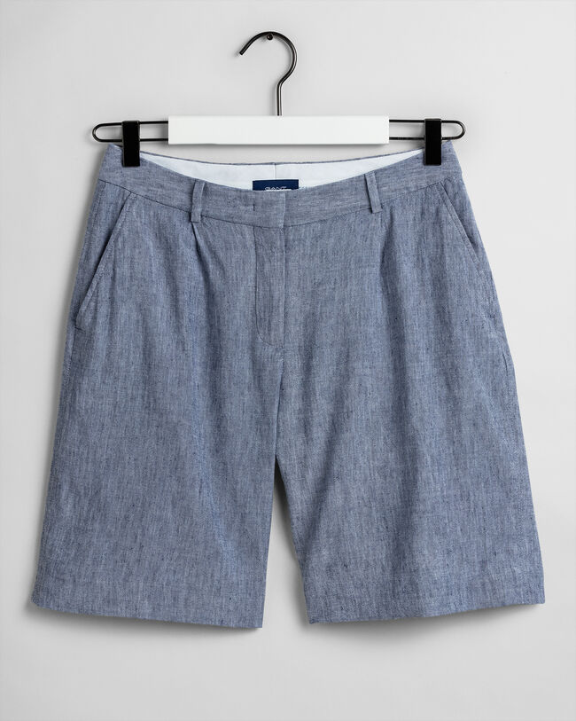 Stretch Leinen Shorts