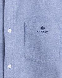 Gebürstetes Slim Fit Oxford-Hemd