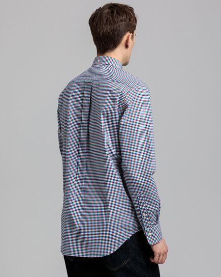 Regular Fit Broadcloth Hemd mit Vichy-Karo in 3Farben